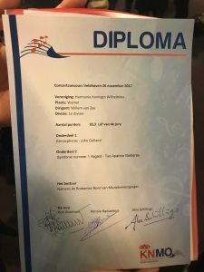 Concourswedstrijd 26-11 diploma HKW